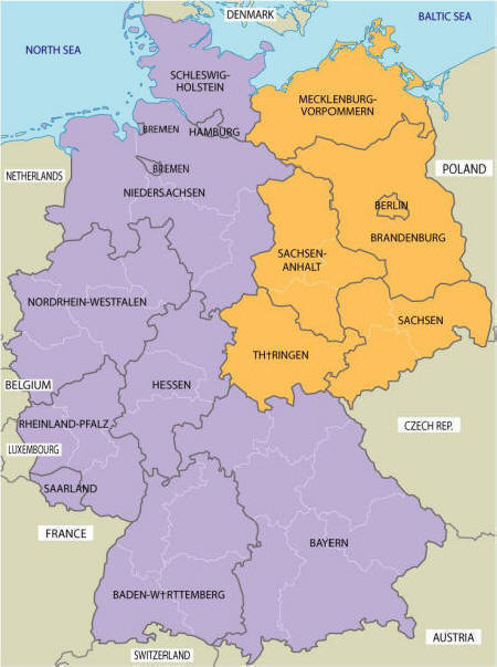 Iron Curtain - Berlin map east west